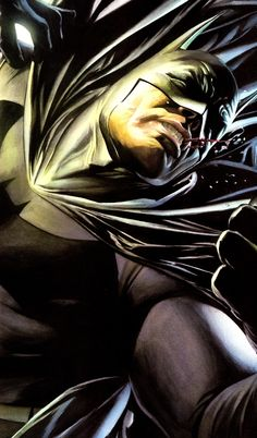 Batman KO'd by Alex Ross