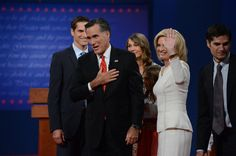 91 10/3/12 Former Massachusetts Governor Mitt Romney with his wife Ann after the presidential debate Wednesday, October 3, 2012 at the University of Denver. John Leyba, The Denver Post