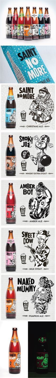 Funny for our beer loving peeps PD (I personally would edit this back a little more from the way quirky side but I know their audience and it will work. Cool Packaging, Coffee Packaging, Beverage Packaging, Bottle Packaging, Brand Packaging, Gift Packaging, Chocolate Packaging, Design Packaging, Label Art