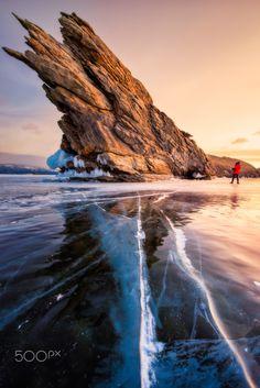 Monster Rock of lake Baikal - Ogoy island , Lake Baikal , Russia Nature Images, Nature Photos, Lake Baikal Russia, Lago Baikal, Beautiful World, Beautiful Places, Landscape Photography, Nature Photography, Monster Rocks