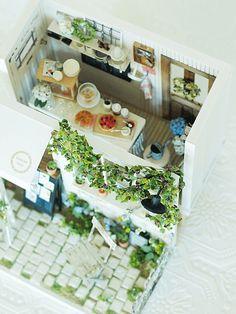 miniature* Garden kitchen と、桜 : natural色の生活~handmade家具