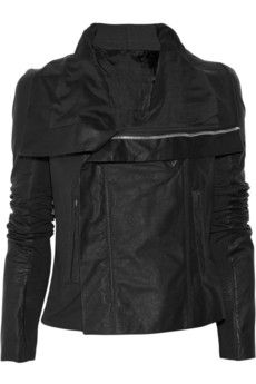 Love this leather jacket. Rick Owens.