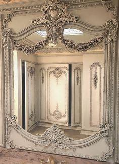 http://maisondecor8.blogspot.com.au/2014/03/embellishing-mirrors-with-appliques.html