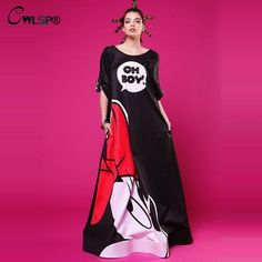 Women Evening Party Long Maxi Dress Autumn Mickey Printed Long Sleeve Dresses Sexy Backless Vintage Club Vestidos QZ1528 $26.18 => Save up to 60% and Free Shipping => Order Now! #fashion #woman #shop #diy www.greatdress.ne...