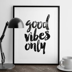 Good Vibes Only http://www.notonthehighstreet.com/themotivatedtype/product/good-vibes-only-inspirational-typography-poster @notonthehighst #notonthehighstreet