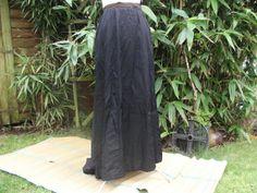 Edwardian Black Taffeta Skirt by Petticoatjanevintage on Etsy, £25.00