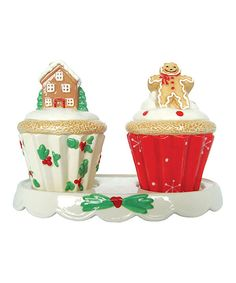 Look at this Holiday Cupcake Salt & Pepper Shakers on #zulily today!