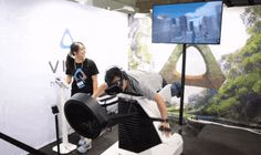 Birdly and HTC Vive let you fly like a bird over Manhattan  Nope, we're not quite done yet with the HTC Vive demos at Computex. In addition to the three VR titles we tried  yesterday , there was one more that we managed to hop onto after the show floor cleared. Yes, it was  that  popular. Birdly is a full-body simulator ride that uses multi-hinged flaps and motion feedback to give you a taste of flying like a bird. Better yet, there's a fan in front of the user to simulate headwind w..