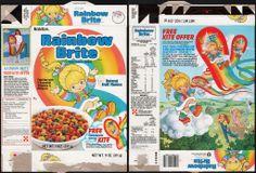 Ralston - Rainbow Brite cereal box - free kite - 1984