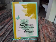 Carolyn's Card Creations: Feel Good Works of Art
