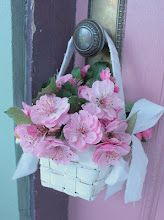 Pretty to hang on a doorknob or in place of a wreath