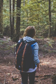 Hiking into the woods. Get outdoors and enjoy! Just remember to do a quick wipe off before leaving the trail to help prevent the spread of invasive species. playcleango.org