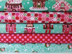 CHRISTMAS FABRIC BUNDLE - Gingerbread Houses - Michael Miller - Half Yard Bundle