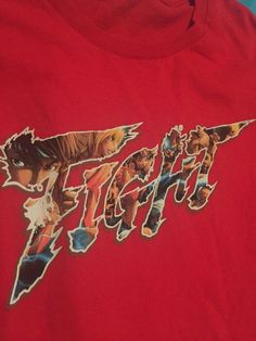 9698f621 FIGHT Street Fighter TShirt Red SEGA retro, sz L | eBay Sega Retro, Street