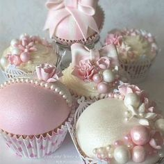 Pink, White Cupcakes