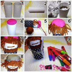 Haz un Belén con tubos de cartón reciclados   Pica Pecosa Crochet Necklace, Diy, Christmas, Cardboard Tubes, Toilet Paper, Crafts To Make, Recycling, Tutorials, Xmas