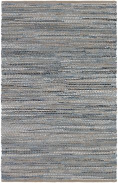 Couristan Rugs Nature's Elements Skyview Hand-Loomed Cotton and Jute Rug Modern Area Rugs, Contemporary Area Rugs, Denim Rug, Rectangle Area, Soothing Colors, Rug Shapes, Jute Rug, Showcase Design, Blue Area Rugs
