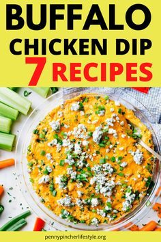 Buffalo Chicken Dip - The Best Ever - These easy buffalo chicken dip recipes tastes incredibly delicious! Makes the perfect appetizer to bring to any cookout, holiday party or family gathering! The best and easiest party appetizers to make any party a success! Easy make-ahead party appetizer recipes to feed a crowd! #dips #diprecipes #buffalochicken #buffalochickendip #appetizers #appetizerrecipes #crockpot #crockpotrecipes #crockpotappetizers #recipes #buffalochickendip #buffalodip… Best Party Appetizers, Best Appetizer Recipes, Dip Recipes, Buffalo Chicken Dip Recipe, Chicken Dips, Healthy Chicken Recipes, Carlsbad Cravings, The Best, Crowd