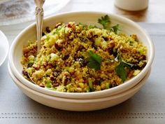 Cooking Channel serves up this Curried Couscous Salad with Dried Sweet Cranberries recipe from Dave Lieberman plus many other recipes at CookingChannelTV.com