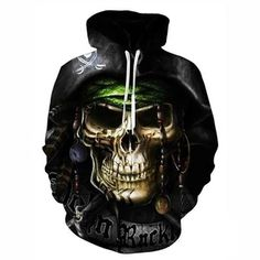 Hot hoody Men&Women Hoodies Couples Casual Style 3D captain Print Pers – eosegal Skull Hoodie, Hooded Sweatshirts, Hoodies, Plus Size Outfits, Pullover, Casual, Prints, 3d, Turban