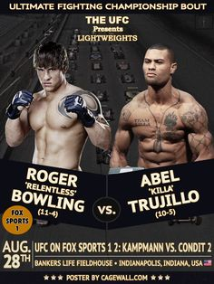UFC on FOX Sports 1 2: Roger Bowling vs. Abel Trujillo Poster and Overview