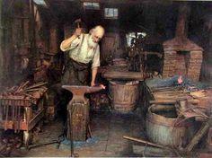 The Blacksmith by Jefferson Davis Chalfant - digital image copyright 1999 Jock Dempsey