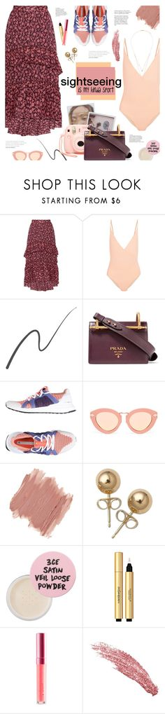 """Sightseeing is my kinda sport."" by bklana ❤ liked on Polyvore featuring Ulla Johnson, FELLA, Stila, Fujifilm, Prada, adidas, Karen Walker, NYX, Bling Jewelry and 3 Concept Eyes"