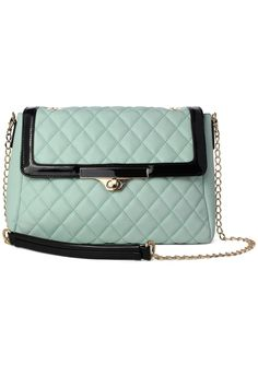 Mint Quilted Chain Bag