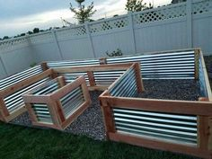 Beautiful custom raised garden bed my husband and I just finished. It turned out… Beautiful custom raised garden bed my husband and I just finished. It turned out perfect! Used redwood and galvanized sheet metal. Measures 4 ft W x 8 ft x 16 ft x 27 in H. Raised Vegetable Gardens, Veg Garden, Garden Types, Vegetable Gardening, Veggie Gardens, Hydroponic Gardening, Flower Gardening, Fairy Gardening, Potager Garden