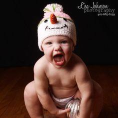 Miss Frosty Crochet Baby Hat