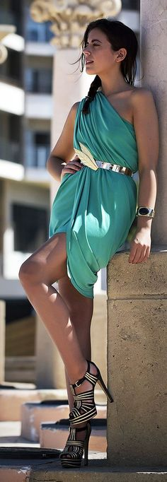 Greek Drape Inspiration Dress