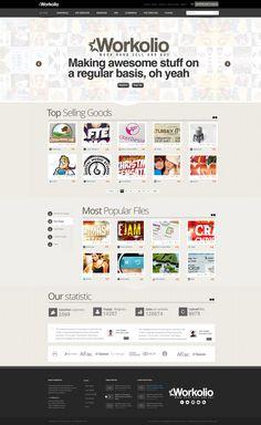 Workolio site design #UX  http://www.techirsh.com