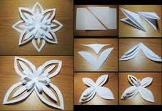 Paper Snowflake. Beautiful, looks easy too.