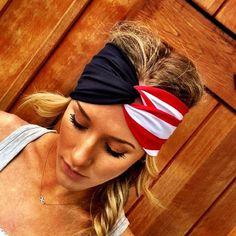 American flag headband!!!- ThreeBirdNest on Etsy