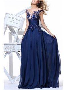 2014年ニューファッションの魅力的なアップリケベルトのAラインイブニング&プロムドレス