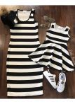 Mommy and Me BW Striped Dress
