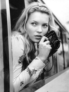 Kate Moss photographed by Bruce Weber, 1990s.