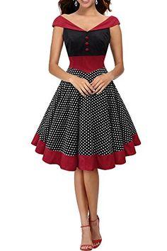 BlackButterfly 'Sylvia' Vintage Polka Dot Pin-up Dress (B...