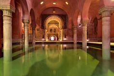 Hammam al Andalus - Granada, Spain. This is one of my favorite places that I visited in Spain. The Places Youll Go, Places To Go, Andalucia Spain, Spain Holidays, Spain And Portugal, Sierra Nevada, Spain Travel, Spas, Day Trip