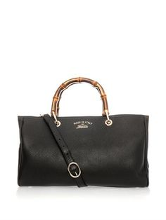 Bamboo and leather tote | Gucci | MATCHESFASHION.COM