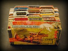 The Altered Page: 2/6/13 post Rolodecks - How cool is this Make your own rolodex cards.