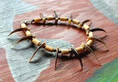 Badger claw bracelet by Lupa. At http://thegreenwolf.etsy.com