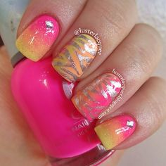 """The nails I did with @polishedbytiff for the besties tag. Colors are Orly """"Beach ... 