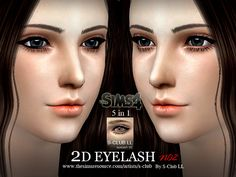 Why are sims always missing those bottom lashes? With this set it just makes your sims look a lil more flirty.