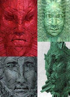 Paper artist Joel Cooper folds these astounding masks from single pieces of paper.