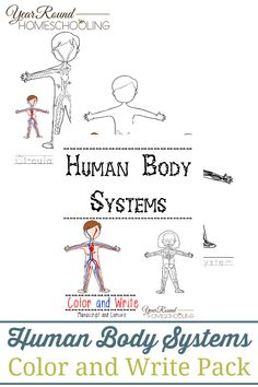 Human Body Systems Color and Write Pack - By Year Round Homeschooling humanbody anatomy science homeschool homeschooling 521291725617531789 Preschool Music Lessons, Free Preschool, Human Body Unit, Human Body Systems, Science Education, Science Activities, Physical Education, Science Resources, Homeschool Curriculum