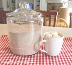 Our family's favorite semi-homemade hot cocoa mix. Once you try this stuff, you'll NEVER want to go back to the store-bought stuff again!