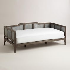 Embossed Metal and Wood Liza Daybed | World Market