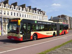 Brighton & Hove bendy bus Brighton Sussex, Brighton England, Brighton And Hove, Bus Coach, Busses, Coaches, Good Times, Trains, Transportation