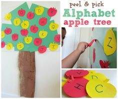 Easy fall themed fine motor and alphabet activity for kids. #ece